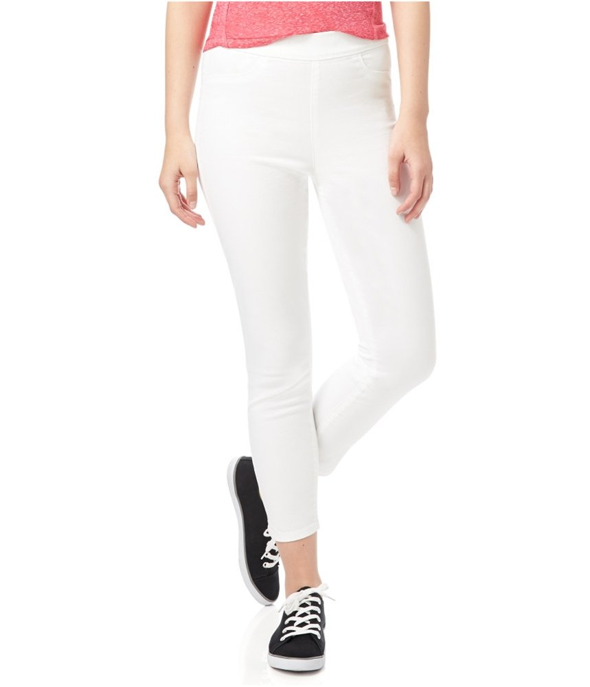 Aeropostale Womens High-Rise Cropped Jeggings White L/24 - Juniors