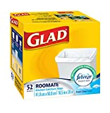 Image of Glad Roomate Easy-Tie Kitchen Catchers Garbage Bags with Febreze Freshness, 52ct