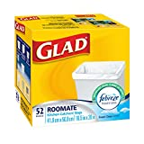 Glad White Garbage Bags - Roomate 15 Litres - with Febreze Freshness, 52 Trash Bags