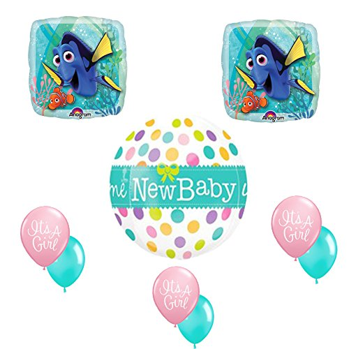 Finding Dory It's a Girl Baby Shower Balloon Bouquet Kit ()