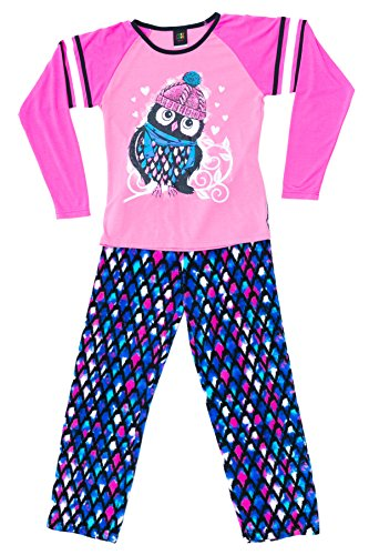 Just Love Two Piece Girls Pajamas Set, Owl Feather, 14-16 ()
