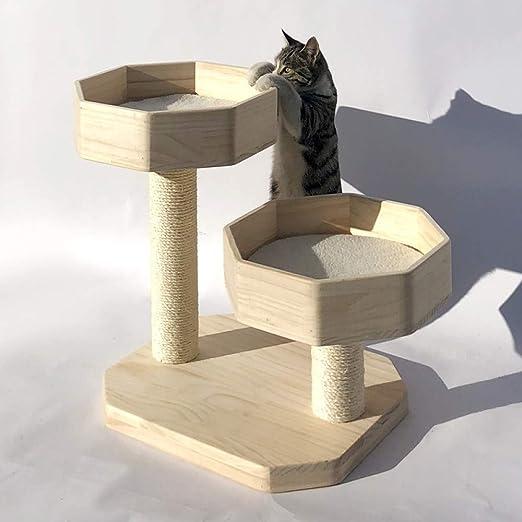 Ccgdgft Arena for Gatos Gato Escalada de Madera Maciza pequeño ...