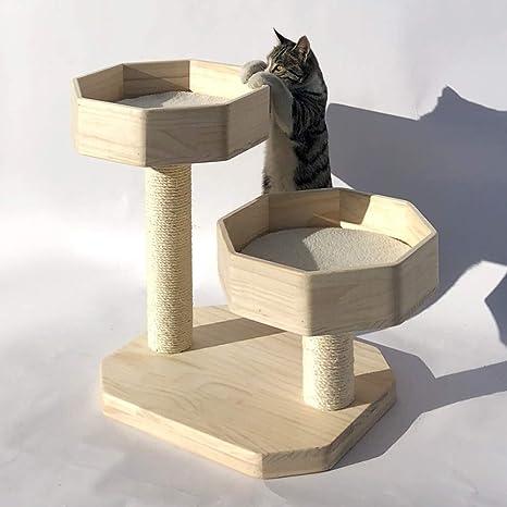 Cxjff Arena for Gatos Gato Que Sube Madera Maciza pequeño Gato de ...