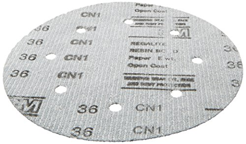 3M 00625 Green Corps Hookit 8'' 36E Grit Regalite Dust-Free Disc by 3M (Image #1)