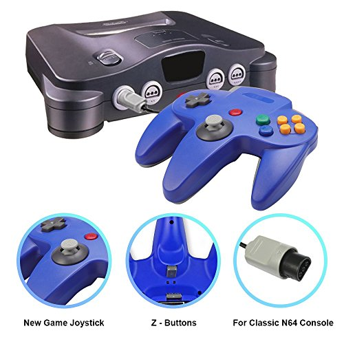 Joxde 1 Pack Upgraded Joystick Classic Wired Controller for N64 Gamepad Console (Blue2) by Joxde (Image #2)