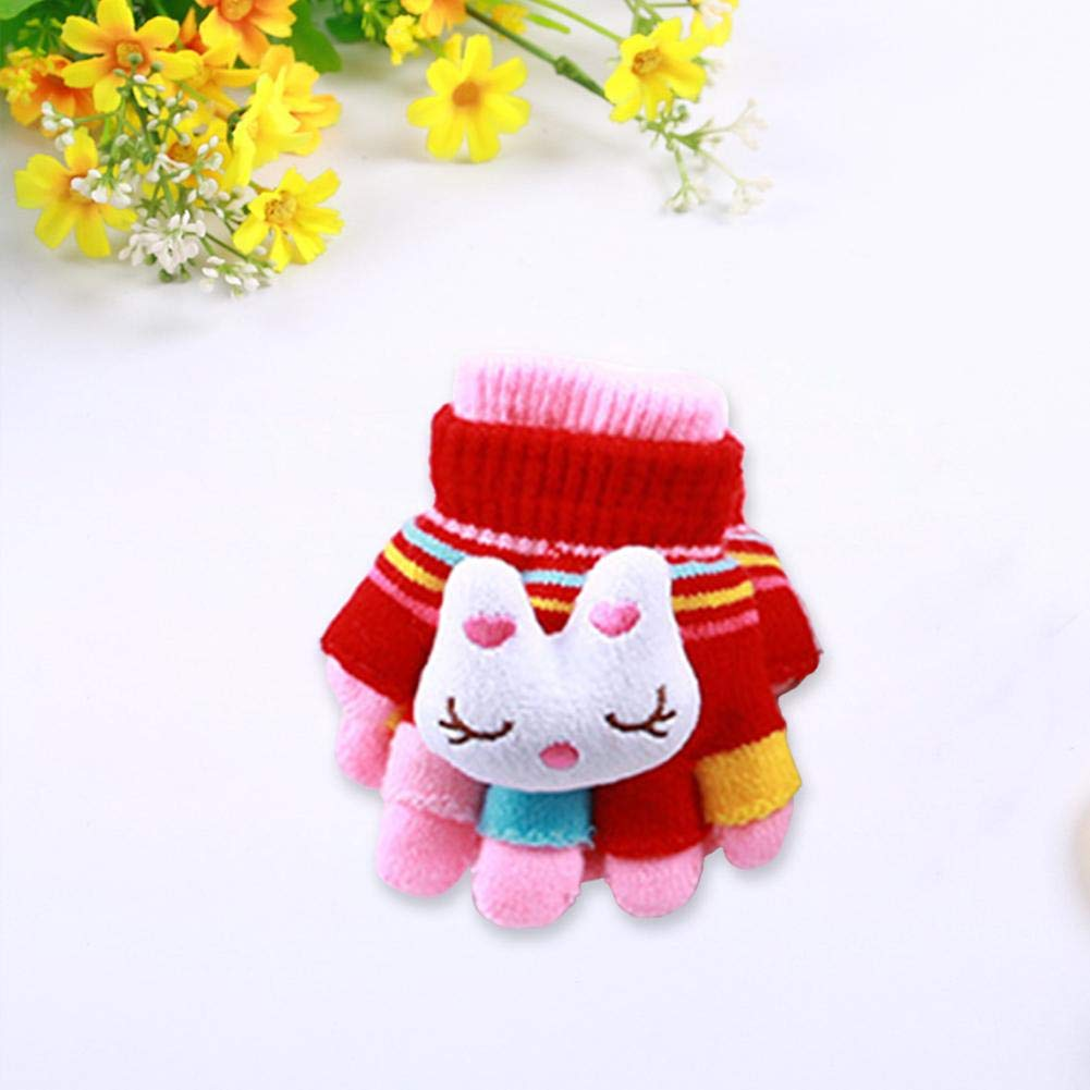 Window-pick Children Winter Warm Gloves Cute Thickened Protective Hand Mittens for Student