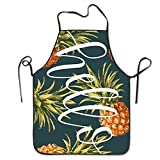 HATS NEW Hip Hop Apron Holle Pineapple Gold Canvas Professional Bib Apron for Women Men Adults Waterproof Natural Sexy Aprons for Women Funny Funny Aprons