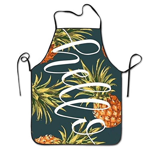 HATS NEW Hip Hop Apron Holle Pineapple Gold Canvas Professional Bib Apron for Women Men Adults Waterproof Natural Sexy Aprons for Women Funny Funny Aprons by HATS NEW