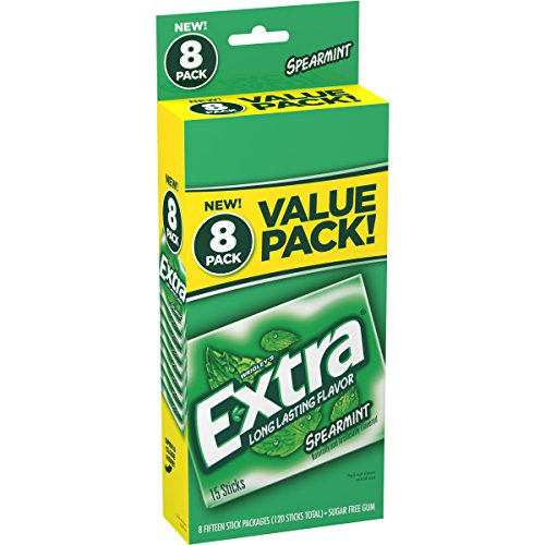 Extra Spearmint Sugarfree Gum, value pack, 8 Count ()