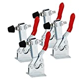 Phansthy 4-Pack Quick-release Toggle Clamps 200lbs Holding Capacity Anti-slip Horizontal Clamps