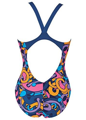Arena Cores Bañador de mujer, espalda en V azul