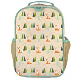 kirby backpack - SoYoung Grade School BackPack - Raw Linen, Eco-Friendly, Non-Toxic, Retro-Inspired Design - Olive Fox