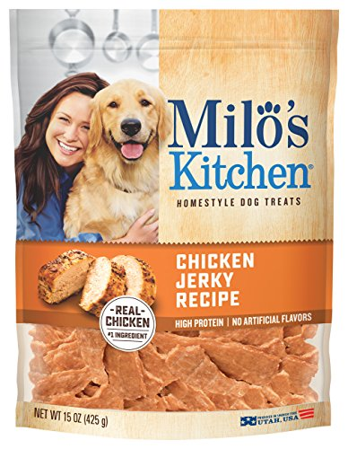 Milo s Kitchen Chicken Jerky Strips Dog Treats, 15-Ounce