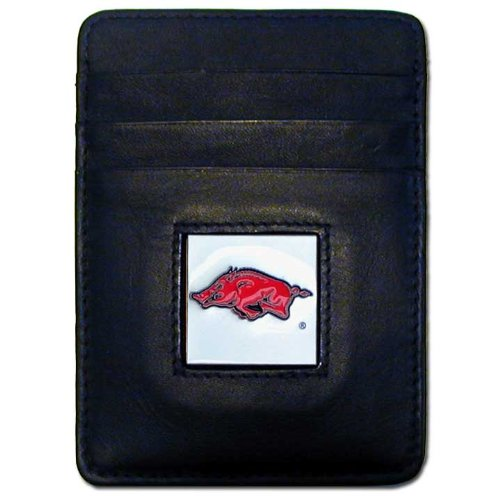 Card Credit Arkansas Razorbacks - NCAA Arkansas Razorbacks Leather Money Clip/Cardholder Wallet