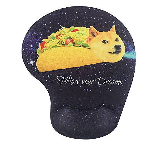 70off Memory Foam Mousepad With Wrist Support Doge In Taco