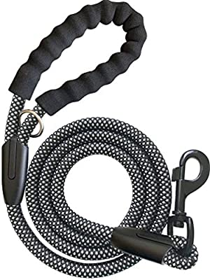 iYoShop Strong Dog Leash Pet Rope Training Leash with Comfortable Handle and Highly Reflective Threads Dog Leashes for Small Medium and Large Dogs