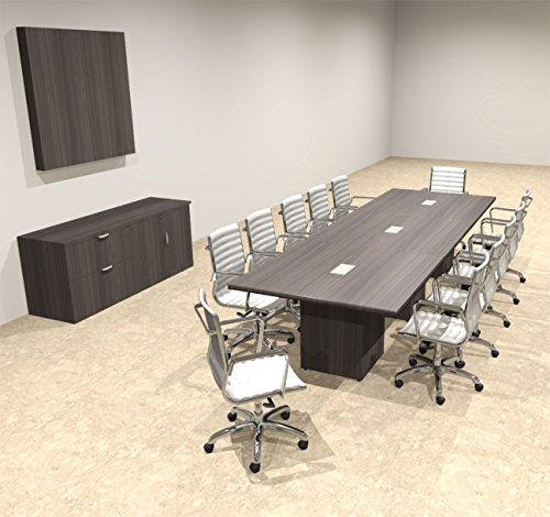 Modern Rectangular Top Cube Leg 12' Feet Conference Table, OF-CON-CS16