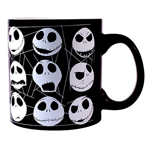 Jack Skellington Faces Glow in the Dark Ceramic Mug