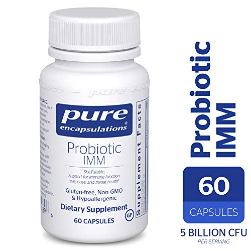 Pure Encapsulations - Probiotic IMM - Shelf Stable Probiotic Blend to Support Immune Function and Maintain Eye, Nose and Throat Health* - 60 Capsules