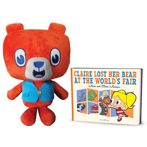 Benny Bear Plush and Claire Lost Her Bear at The Worlds Fair Book Bundle ()