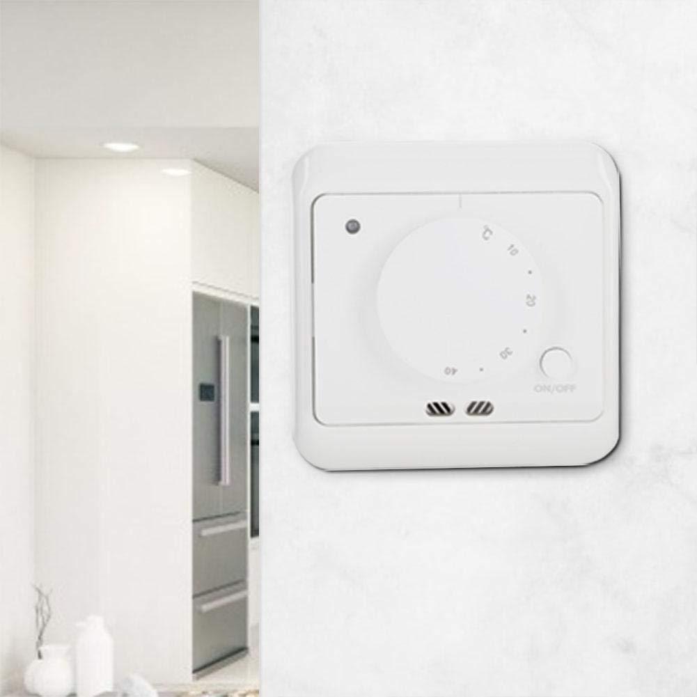 Cafopgrill Termostato de calefacci/ón de Piso 16A 230V Controlador de Temperatura del Sensor de calefacci/ón por Suelo Radiante