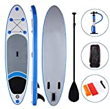 Yiilove Inflatable Stand Up Paddle Board 10' iSUP Board with Adjustable Paddle and Dual Action Pump and Travel Backpack