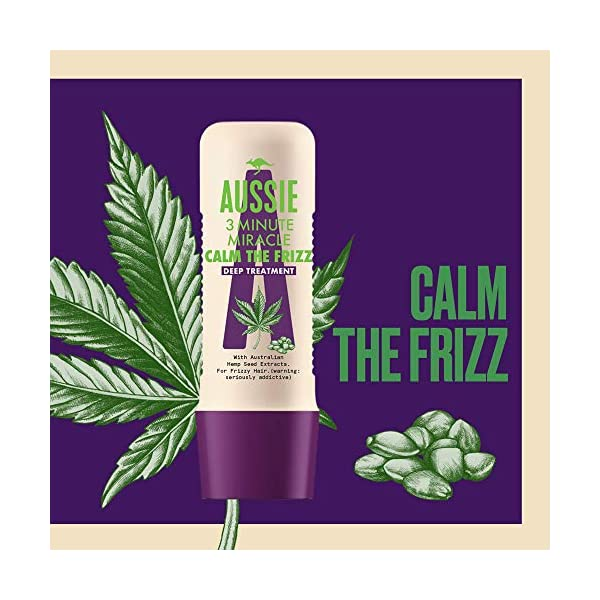 Aussie Calm The Frizz Shampoo with Conditioner for Frizzy Hair with Australian Hemp Seed Oil, Cruelty Free