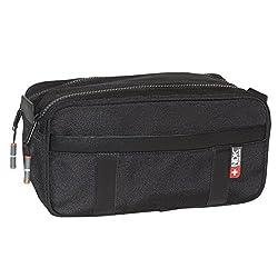NDK Men's Capital Collection Double Zip Travel Kit, Black