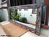 Cheap Wood mirror sky blue 53.5×22.5