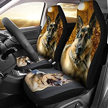 German Shepherd01 Print Car Seat Covers Universal Fit