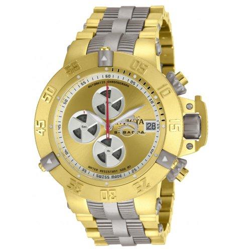 Invicta Men s 11644 Subaqua Noma III Automatic Chrono Gold Tone Watch