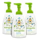 Health & Personal Care : Babyganics Foaming Dish and Bottle Soap, Fragrance Free, 16oz Pump Bottle (Pack of 3)