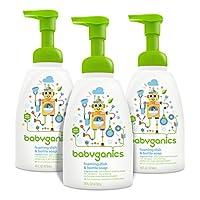 Babyganics Foaming Dish and Bottle Soap, Fragrance Free, 16oz Pump Bottle (Pa...