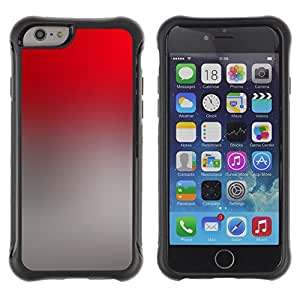 Híbridos estuche rígido plástico de protección con soporte para el Apple iPhone 6 (4.7) - gradient colors grey red wallpaper