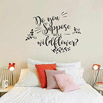 BATTOO Nursery Wall Decal Do You Suppose Sheu0027s Wildflower Wall Decal Quote Vinyl Sticker Decals Quotes  sc 1 st  Amazon.com & Amazon.com: BATTOO Nursery Wall Decal Do You Suppose Sheu0027s ...