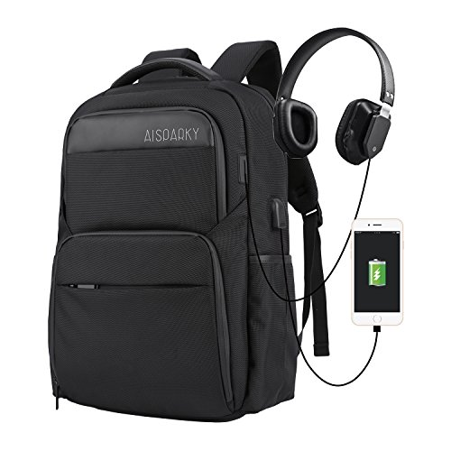 AISPARKY Laptop Backpack, Anti-Theft Water Resistant Travel Computer...