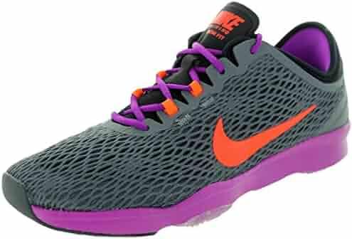 21f17130d751 NIKE Women s Zoom Fit Dark Grey Hypr Orange VVD Prpl Training Shoe 6 Women