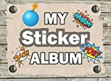 MY STICKER ALBUM: Sticker Activity Books for Kids . Size 8.25x6 in (100 pages)  Blank Comic  Sticker Book for Kids. Ultimate Sticker book (Collection Notebook)