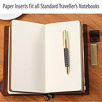 / Lot de 3/ recharges pour un journal en cuir Sovereign-gear rechargeable 3 White Lot de 3 paquets de feuilles pour un journal en cuir rechargeable/  Dots