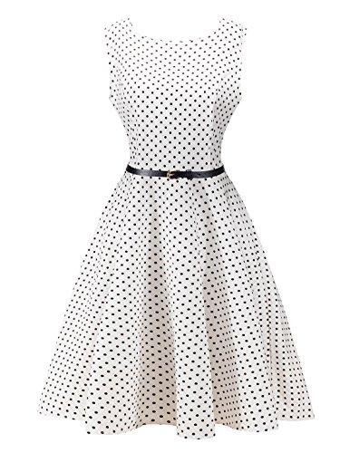 FEOYA-Womens-Print-Vintage-Floral-Hepburn-Retro-1950s-Midi-Party-Dress