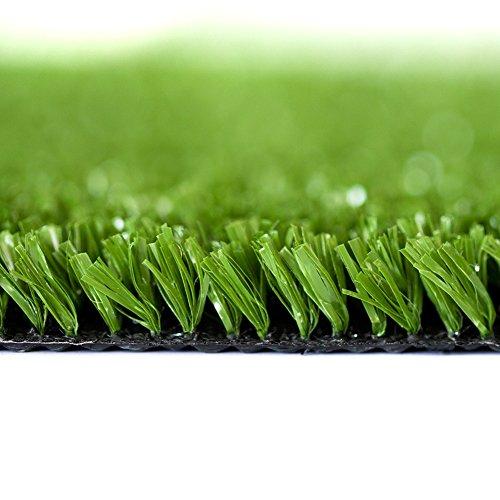 Review WMG Artificial Grass Lawn 4'x6′ Synthetic Turf Grass Rug Green Fake Grass for Home Backyard Patio Balcony Indoor Outdoor Decor