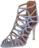 Zapatos Best Deals - STEVEN by Steve Madden Women's Tana Dress Sandal, Blue Nubuck, 6 M US