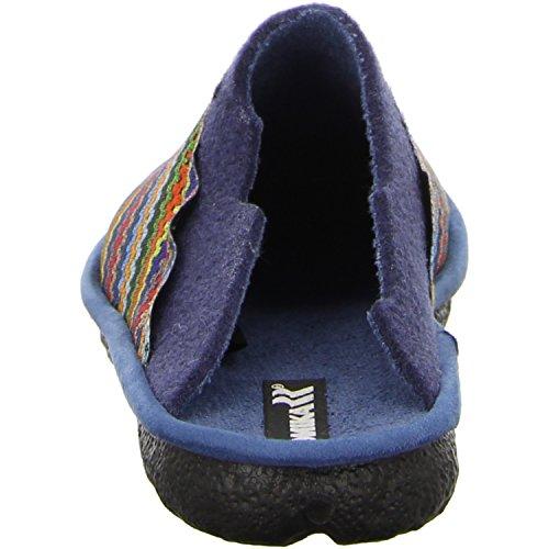 75 Chausson 900–mikado Multicolore Pour Romika bleu 2207570 Femme Bleu EP7Wq