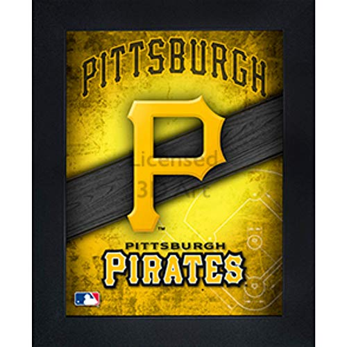 Pittsburgh Pirates 3D Poster Wall Art Decor Framed Print | 14.5x18.5 | Lenticular Posters & Pictures | Memorabilia Gifts for Guys & Girls Bedroom | MLB Baseball Sports Team Fan Poster for Man Cave (Pittsburgh Pirates Frame Picture)