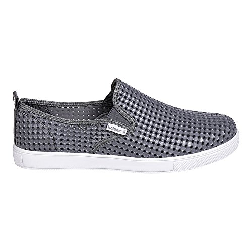 Synthétiques Hommes Blanc Mocassins Holees Leon Mocassins Synthétiques Gris gqUTwEqP