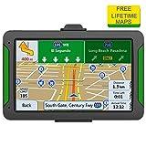 TGX - Navegador GPS para Coche con visualización táctil HD de 7 Pulgadas, 8 GB, Sistema de navegación GPS, dirección de transición de Voz, con actualización de mapas de por Vida