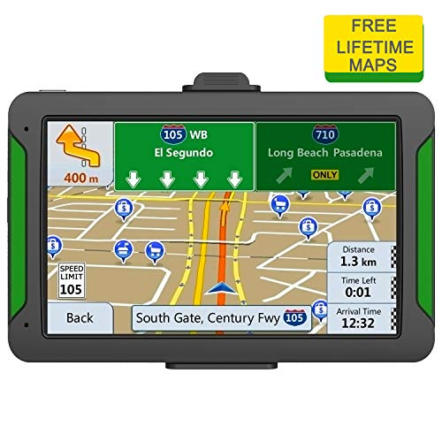 NAVRUF GPS Navigation for Car - Spoken Turn-by-Turn Directions Built-in 256MB+8GB Vehicle Navigation System Free Lifetime Maps(Pre-Installed USA+Canada+Mexico)