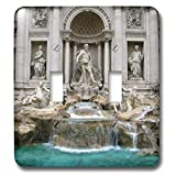 3dRose Elysium Photography - Architecture - Trevi Fountain, Rome, Italy - Light Switch Covers - double toggle switch (lsp_289636_2)