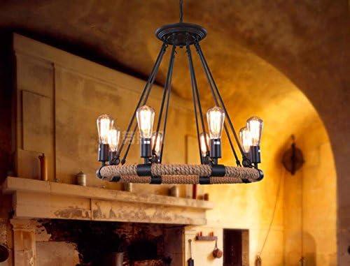 Max mash luci sospese loft retro in ferro e canapa per home bar