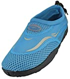 Cambridge Select Kids' Mesh Quick Dry Slip-On Drawstring Non-Slip Water Shoe (Little Kid/Big Kid),12 M US Little Kid,Neon Blue